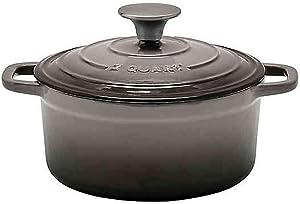 Artisanal Kitchen Supply 2 qt. Enameled Cast Iron Dutch Oven in Grey