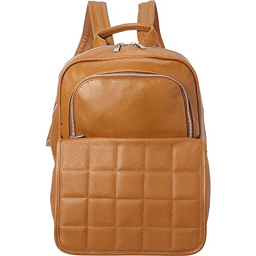 Piel Custom Personalized QUILTED LEATHER BACKPACK