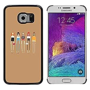 Be Good Phone Accessory // Dura Cáscara cubierta Protectora Caso Carcasa Funda de Protección para Samsung Galaxy S6 EDGE SM-G925 // Ladies Fashion Friends Fashion