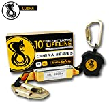 KwikSafety (Charlotte, NC) 10' COBRA Self Retracting Lifeline | Poly Web | ANSI Class B SRL w/Steel Carabiner Locking Clip Snap Hook | Roofing Construction Personal Fall Arrest Protection Safety Yoyo