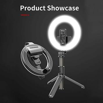 Amazon.com: Greaked L07 5 Inch Ring Light Bluetooth Selfie Stick Portable  LED Fill Light Mobile Phone Live Bracket Black: Electronics