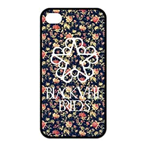 Fashion BVB Black Veil Brides Hard Snap On Rubber Coated Cover Case for iPhone 4 / iPhone 4S by icecream design