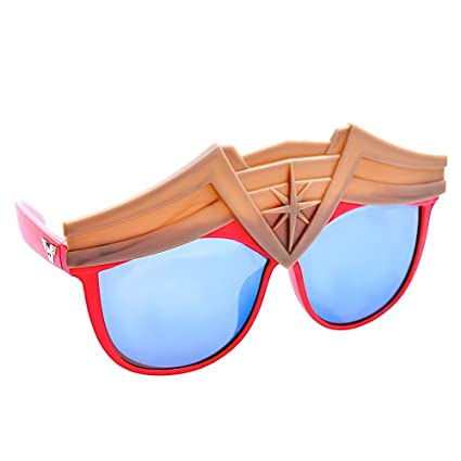 c1ad04b2dd7a6 Image Unavailable. Image not available for. Color  Sun-Staches Costume  Sunglasses Wonder Woman Super Hero ...