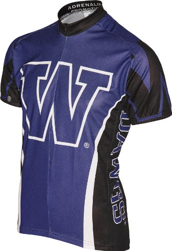 NCAA University of Washington Cycling Jersey, Purple