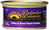 Lick Your Chops Distinctive Delicacies Turkey & Sweet Potato For Cats, 3-Ounce Cans (Pack Of 24)