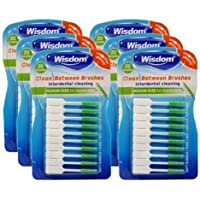 Wisdom Clean Between Interdental Medium Green Brushes - Pack of 6, Total 120
