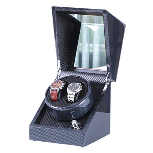 - Double Watch Winder, Love Nest Carbon Fiber High-Grade Japanese Mabuchi Motor Wood Automatic Watch Winder Piano Finish Pure Handmade with Quiet Watch Winder Box [Power Included]