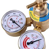 Sanny Acetylene Gas Regulator Welding Cutting Torch Pressure Gauge Fits CGA 200 Female