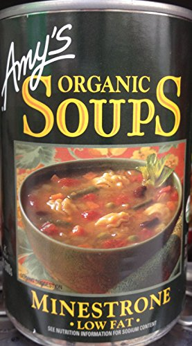 - Amy's Organic Soups, Low Fat Minestrone, 14.1 Ounce