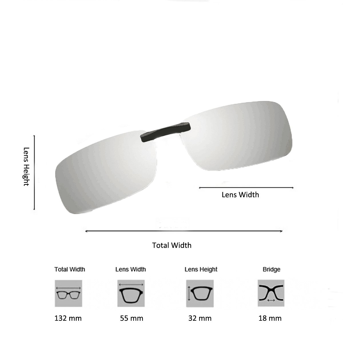 6d0cd7bc28e Clip On Sunglasses Men s Titanium Flexible Polarized Lenses Glasses Laura  Fairy 55) larger image