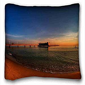 Custom Nature Custom Cotton & Polyester Soft Rectangle Pillow Case Cover 16x16 inches (One Side) suitable for X-Long Twin-bed