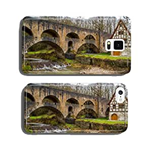 Timbered house and old viaduct to the Tauber in Rothenburg cell phone cover case iPhone5