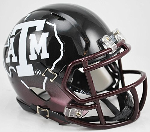 Texas A&M Aggies Replica Speed Mini Helmet - Black