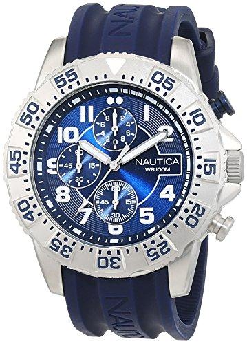 Nautica Reloj Analógico para Hombre de Cuarzo con Correa en Caucho 0656086076424: Amazon.es: Relojes