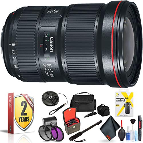 Canon EF 16-35mm F/2.8L Iii USM Lens for Canon 6D, 5D Mark IV, 5D Mark III, 5D Mark II, 6D Mark II, 5Dsr, 5Ds, 1Dx, 1Dx Mark II + Accessories (International Model + 2 Year Warranty)