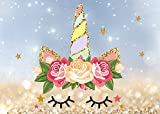 Fanghui Unicorn Photography Backdrops Flower Photo Booth Background Baby Birthday Party Decoration Backdrops Studio Props Vinyl 7x5ft