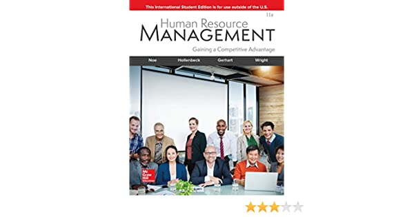 Human resource management gaining a competitive advantage, 8th.