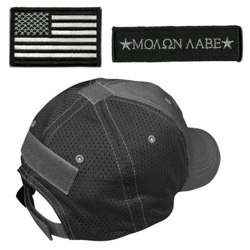 w/USA & Molon Labe Patches (Mesh Black) ()