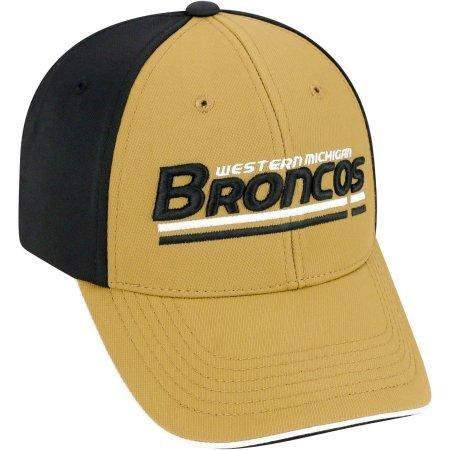 (NCAA University of Western Michigan Broncos Away Two Tone Baseball Hat \ Cap)