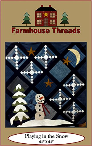(Playing in the Snow #957 Farmhouse Threads Christmas Holiday Quilt Pattern)