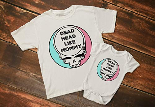 (Grateful Dead Baby Bodysuit Dead Head like Mom or Dad Steal Your Face Baby Mothers Day Gift)