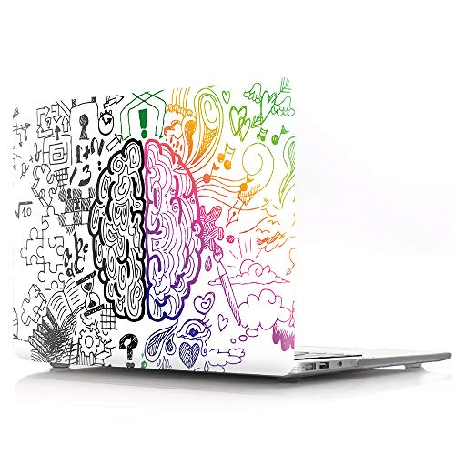 (HRH Graffiti Left and Right Brain Laptop Body Shell Protective PC Hard Case for Apple MacBook Air 13.3