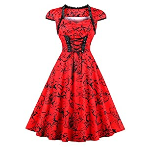 crazycatz@Womens Vintage Cotton Victorian Renaissance Steampunk Gothic Romantic Dress