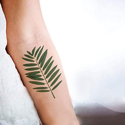 5piezas Hoja Tatuaje Pegatina Impermeable Temporal Falso Tatuaje ...