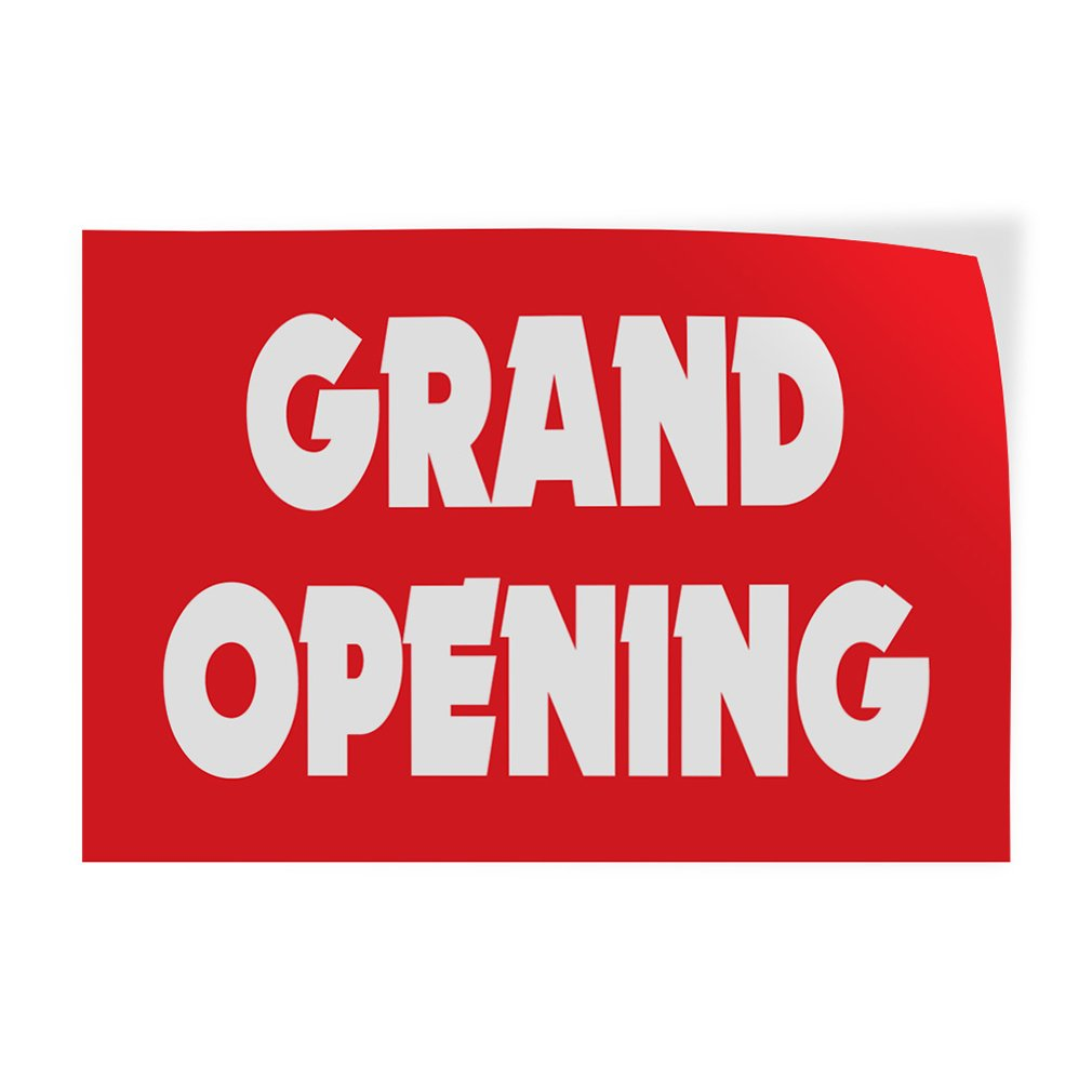 Set of 5 Decal Sticker Multiple Sizes Grand Opening #1 Style D Business Grand Opening Outdoor Store Sign Red 40inx26in