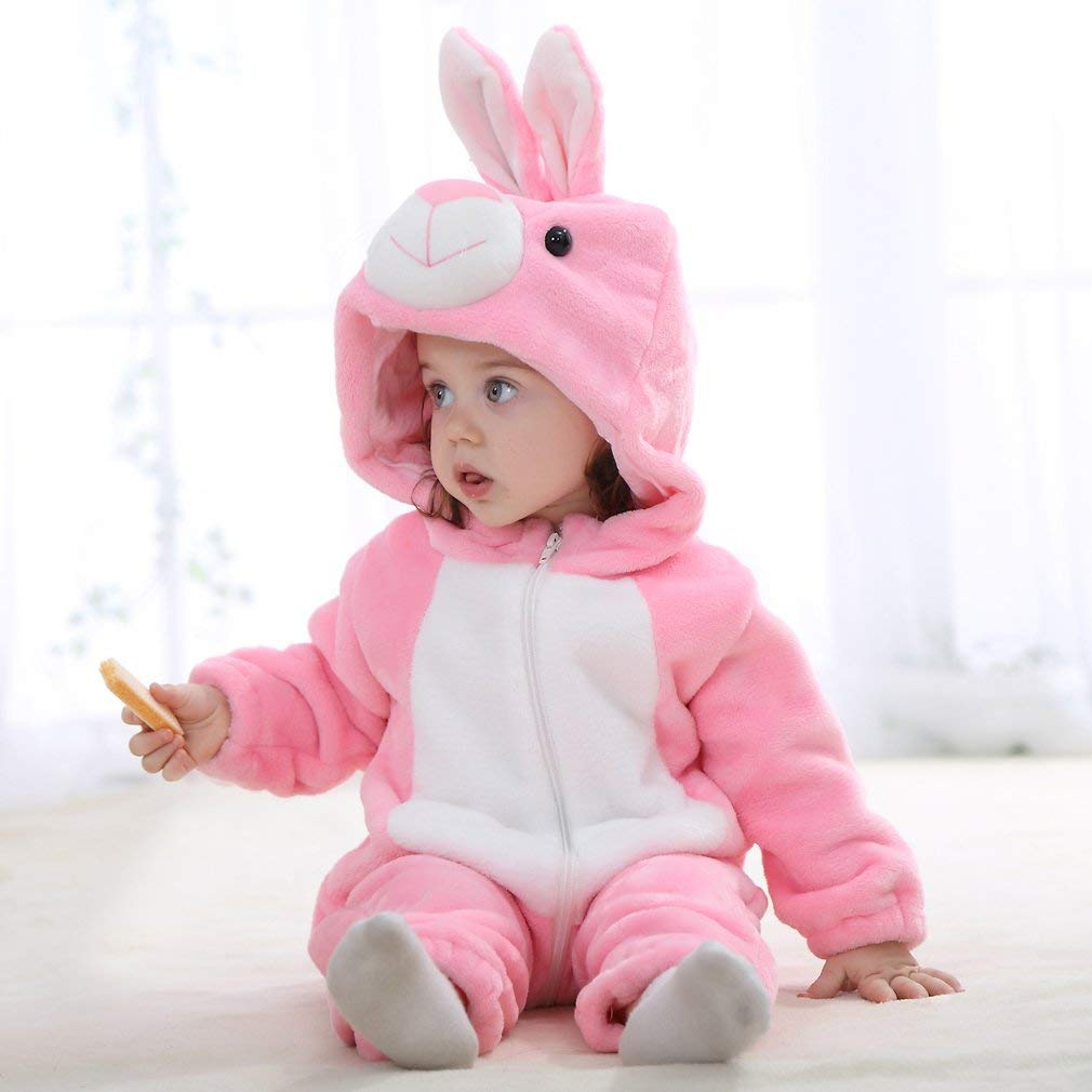 Pyjama Ensemble de Animal Combinaison Automne Hiver Barboteuse Enfant Flanelle Filles Costume