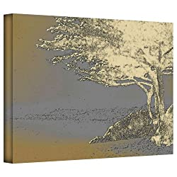 Art Wall Tree On Beach Gallery Wrapped Canvas Art By Linda Parker, 24 By 32-inch