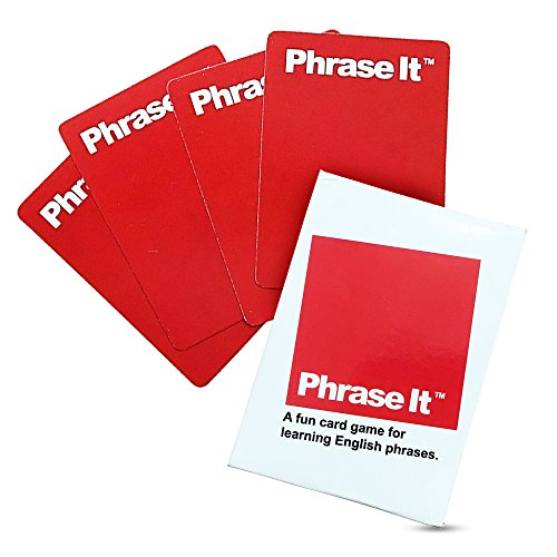 Phrase It English Learning Card Game and ESL Book for Teaching and Classroom Activities - Includes Teacher Instructions and a Phrasal Verb Dictionary