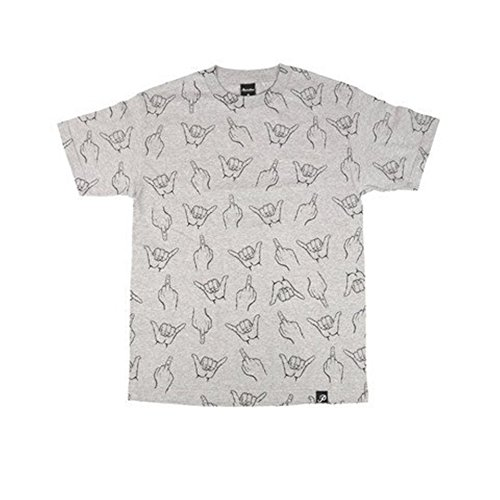 Primitive HLFU Tee Shirt in Heather Grey Size Small