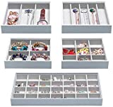 Magic Stackable Jewelry Trays Closet Dresser Drawer Organizer for Accessories, Gadgets & Cosmetics, Storage Display...