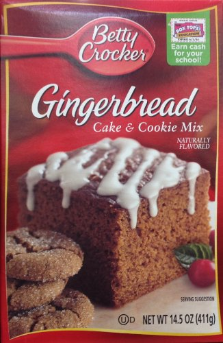 Betty Crocker Gingerbread Cake & Cookie Mix, 14.5-Ounce Boxes (Pack of 3) ()
