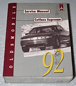1992 oldsmobile cutlass supreme service manual complete volume rh amazon com 1972 Oldsmobile Cutlass Supreme 1988 Oldsmobile Cutlass Supreme