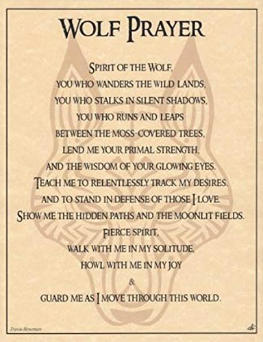 Clayton Binder Wolf Prayer Poster 20