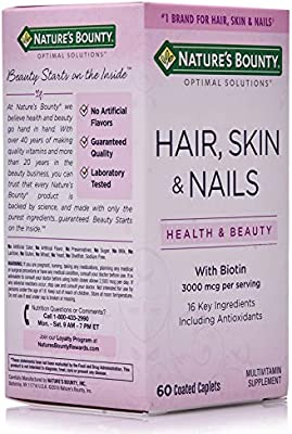 Nature S Bounty Hair Skin Nails 3000 Mcg Supplement 60