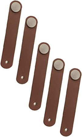 8x Homyl Handmade Leather Valise Poign/ée Cuir PU D/écoration pour Tiroir Placard