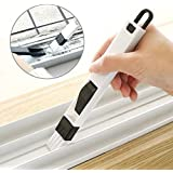 ON GATE 2-in-1 Dust Removal Multi-Function Window Slot Brush (7.7 x 0.8 inch) with Dustpan