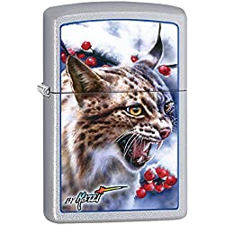 Animals Part1 Zippo Lighter Outdoor Indoor Windproof Lighter Free Customize Personalized Engrave Message Permanent Lifetime Engraving on Backside (Cat)