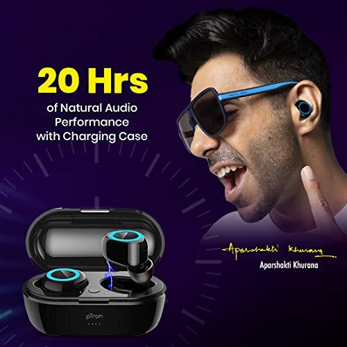 pTron Bassbuds in-Ear True Wireless Bluetooth Headphones with Hi-Fi Deep Bass