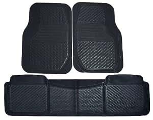PantsSaver 3 Piece All Weather Car Mat Set  (Black)