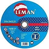 Leman 120.00 Pack de 25 discos de corte para metal (125 x 1 x 22,23 mm) azul Set Piezas