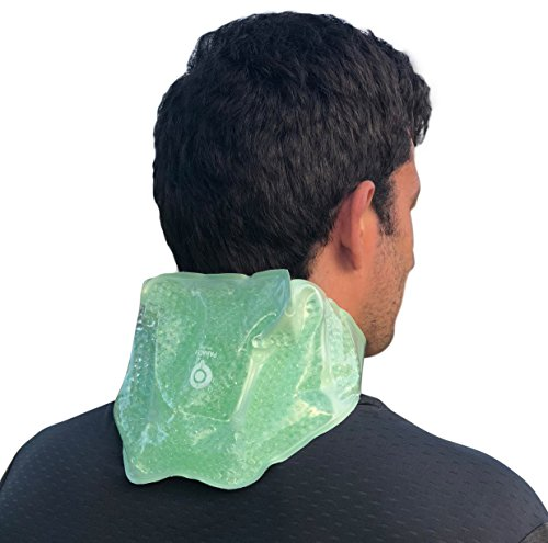Neck & Shoulder Hot / Cold Therapy Gel Bead Wrap | Microwaveable, Freezable and Reusable | Ideal for Relieving Swelling and Inflamation, Muscle Aches, Stiffness, Arthritis Pain, and Sports Injuries by Panacea Wellbeing
