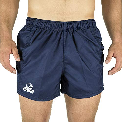 Rhino Performance Rugby Shorts, Navy - -