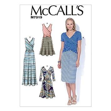 McCall \'s Damen Schnittmuster 7319 geraffte Taille Kleider: Amazon ...