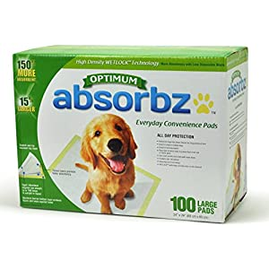 Absorbz Optimum Training Pads for Dogs, 100 ct. Large 24″x24″ Pads
