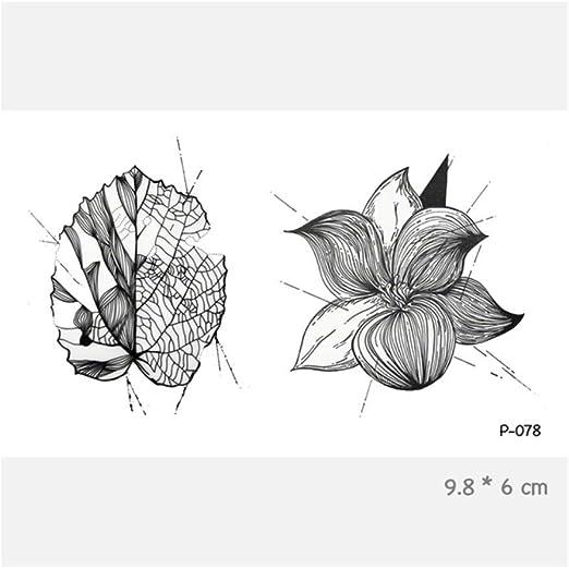 HYTGF Tatuaje Temporal Etiqueta engomada Acuarela Flor Impermeable ...