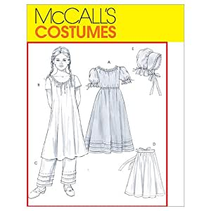 McCall's Patterns M4547 Children's/Girls' Early American Costume, Size GIRL [(7-8) (10-12) (14)]